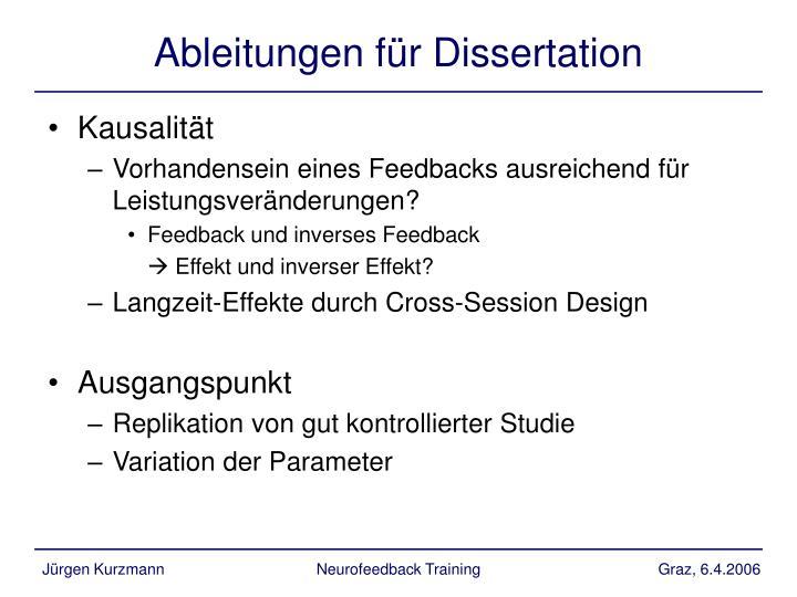 Ableitungen für Dissertation
