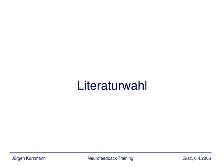 Literaturwahl