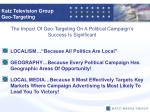 the impact of geo targeting on a political campaign s success is significant
