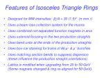 features of isosceles triangle rings