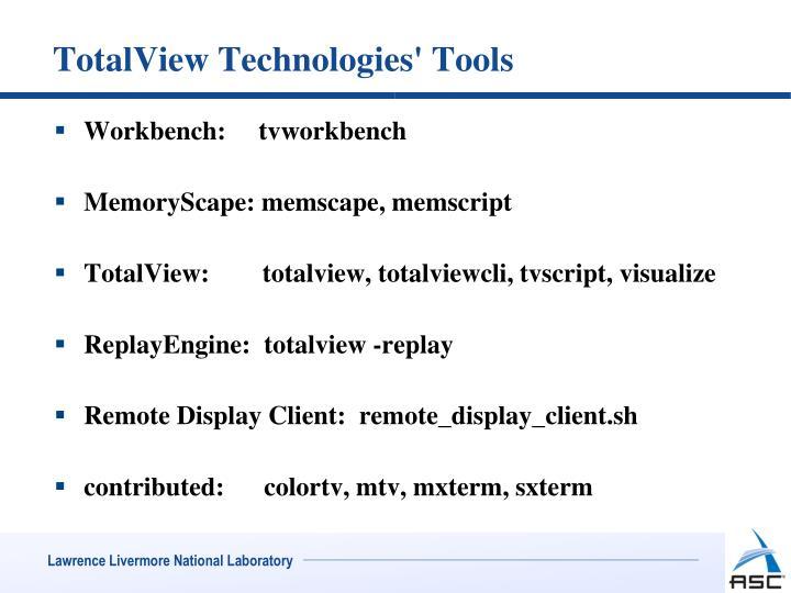 Totalview technologies tools