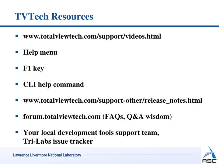 TVTech Resources
