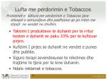 lufta me perdorimin e tobaccos