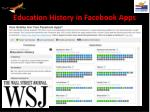 education history in facebook apps