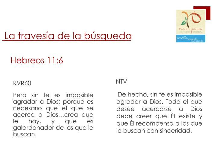 Hebreos 11 6