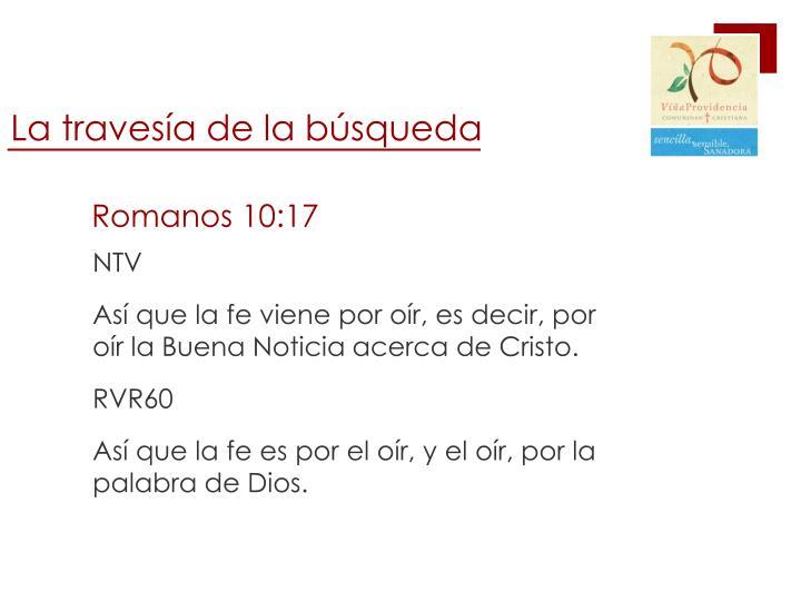 Romanos 10:17