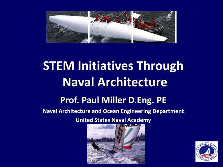 Stem initiatives through naval architecture