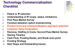 technology commercialization checklist
