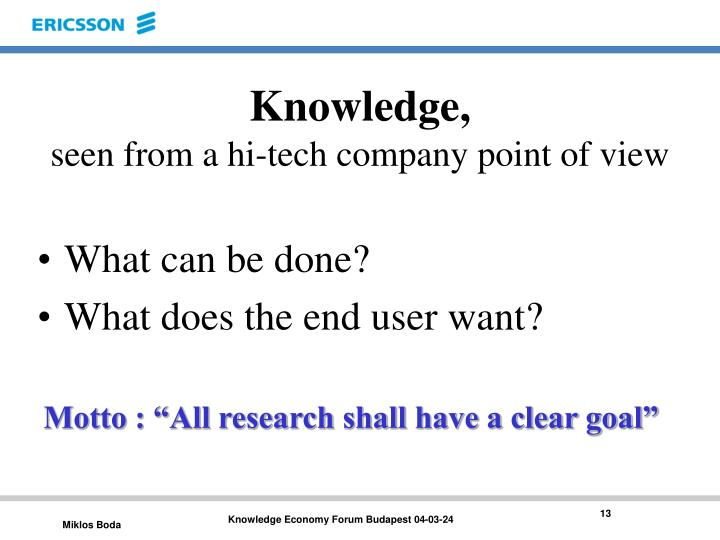 Knowledge,