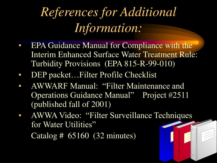 References for Additional Information: