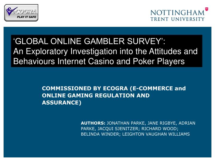 commissioned by ecogra e commerce and online gaming regulation and assurance n.