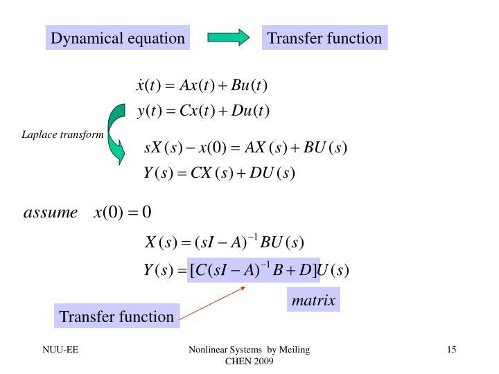 Dynamical equation