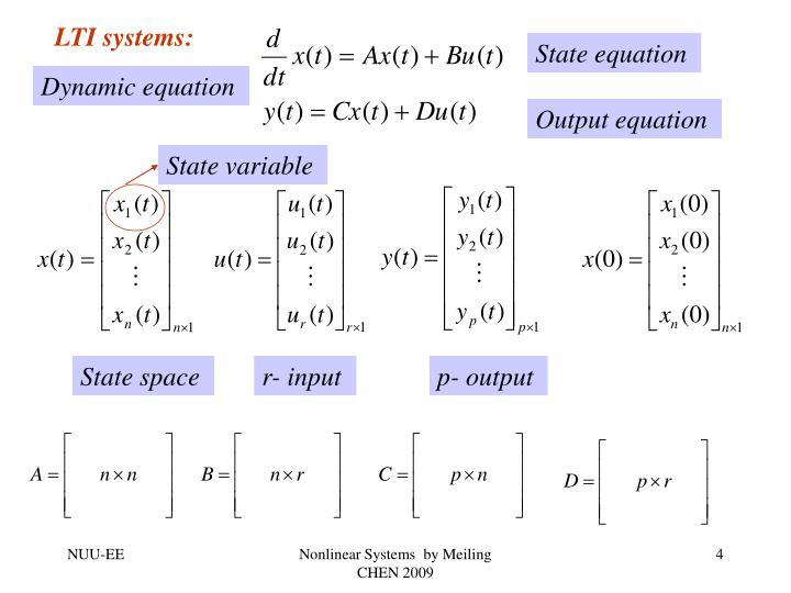 LTI systems: