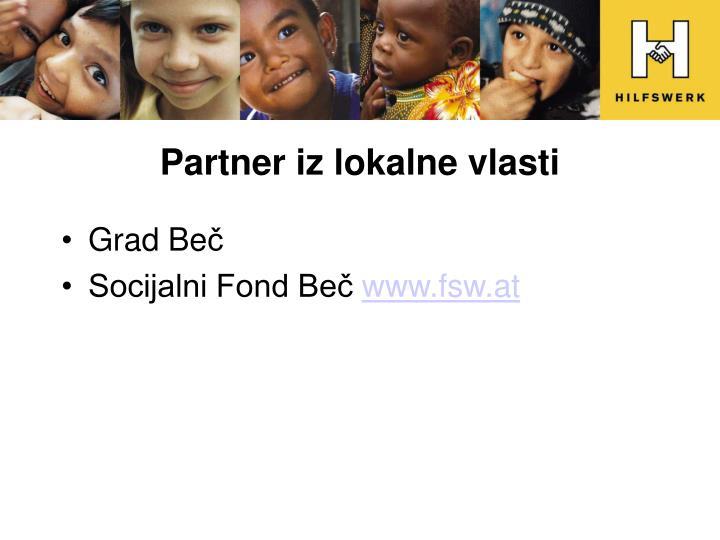 Partner iz lokalne vlasti