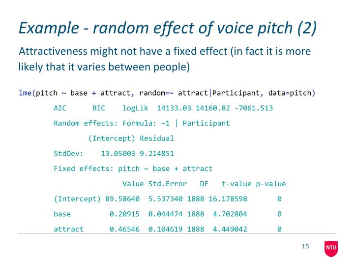 Example - random effect of voice pitch (2)