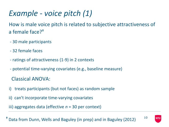 Example - voice pitch (1)