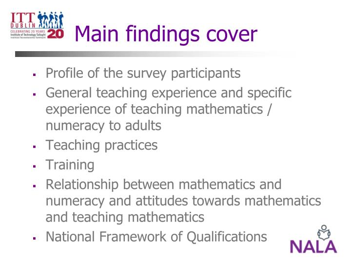 Main findings cover
