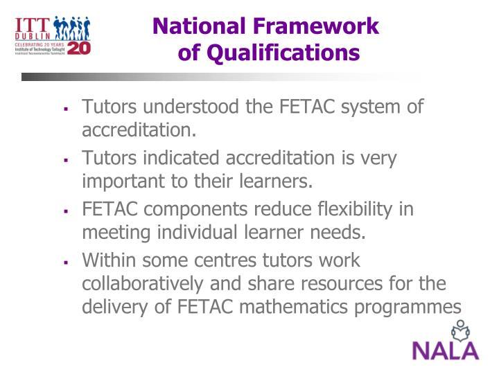 National Framework