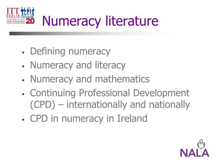 Numeracy literature
