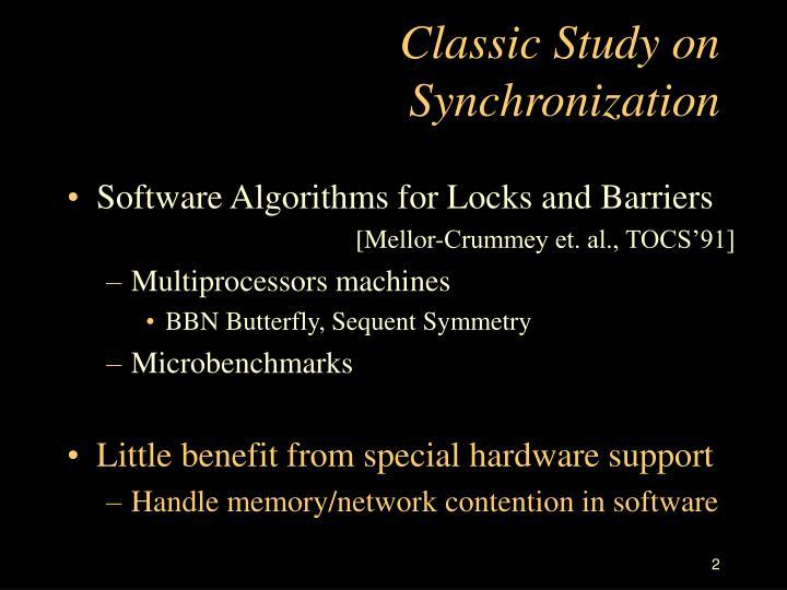 Classic study on synchronization