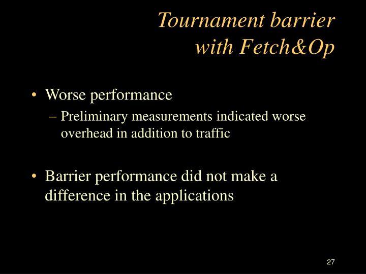 Tournament barrier