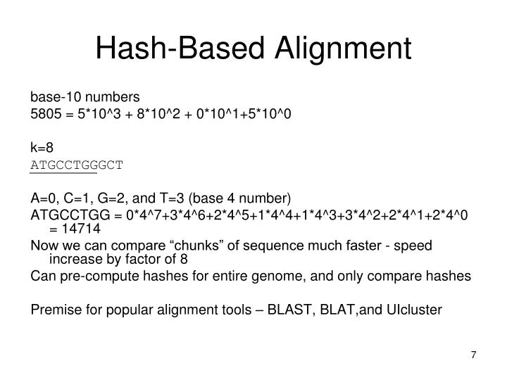 Hash-Based Alignment