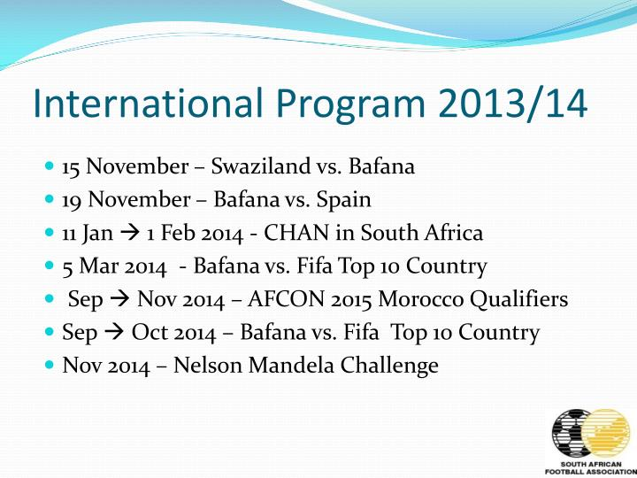 International Program 2013/14