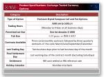 product specifications exchange traded currency options