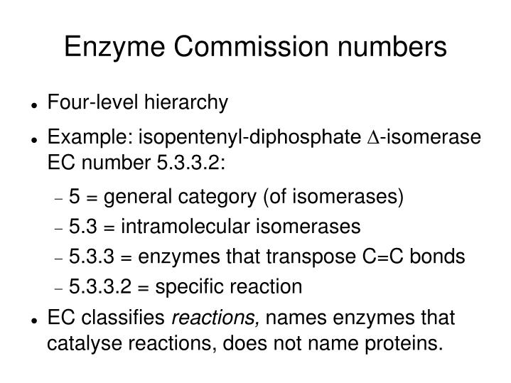Enzyme Commission numbers