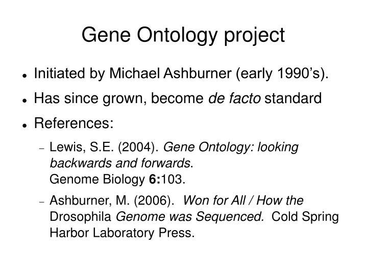 Gene Ontology project