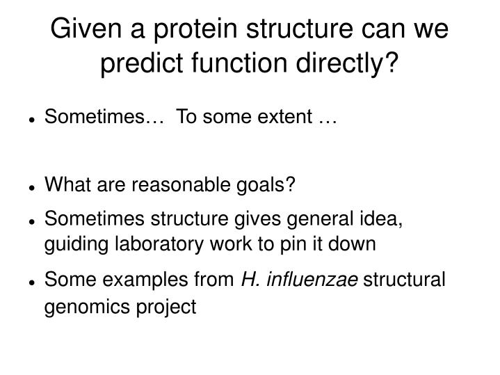 Given a protein structure can we predict function directly?