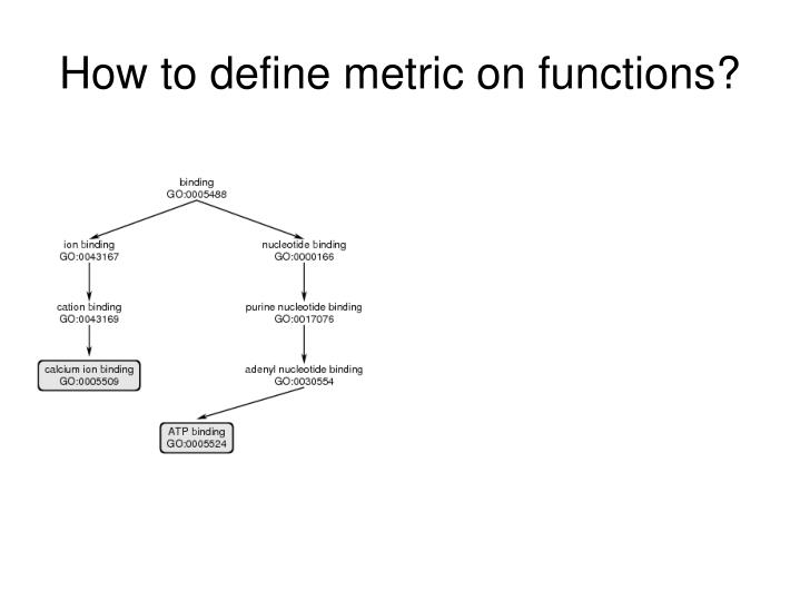 How to define metric on functions?