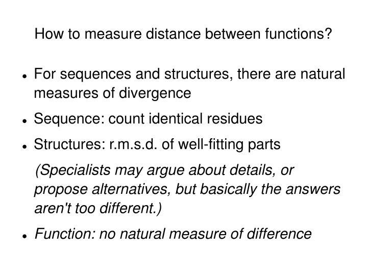 How to measure distance between functions?