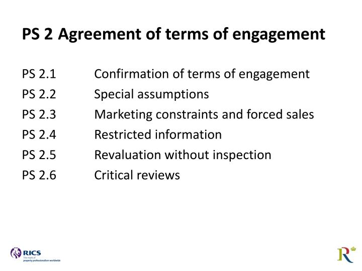 PS 2	Agreement of terms of engagement