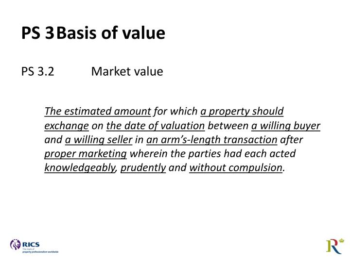 PS 3	Basis of value