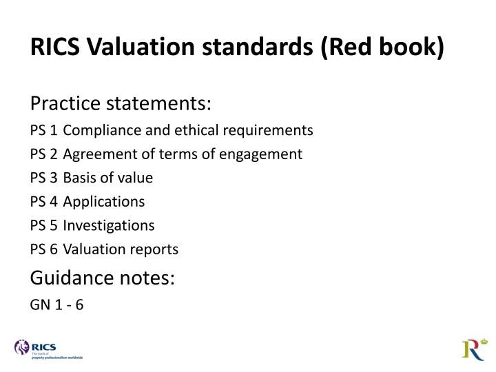 RICS Valuation standards (Red book)