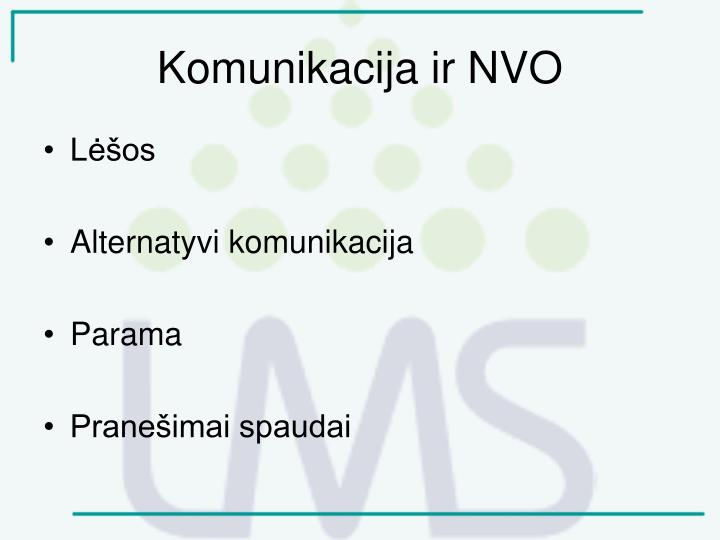 Komunikacija ir NVO