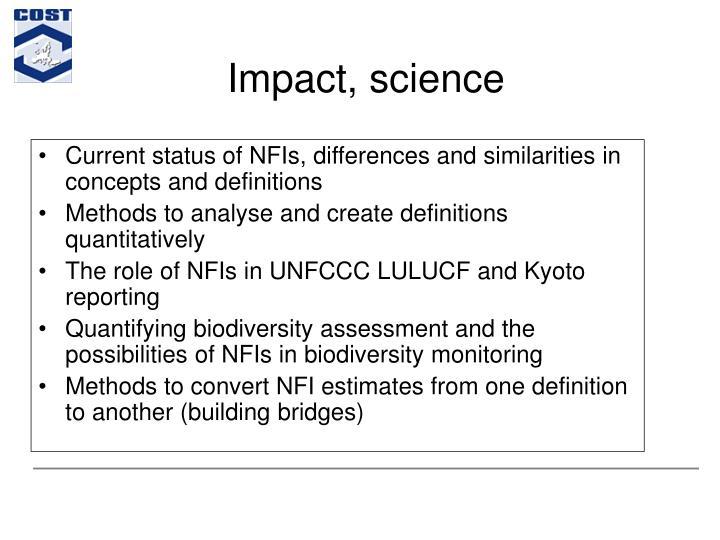 Impact, science