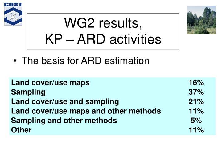 WG2 results,