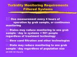 turbidity monitoring requirements filtered systems