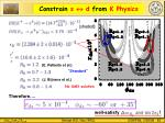 constrain s d from k physics
