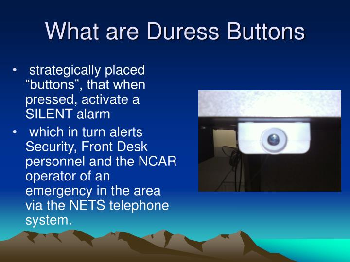 What are Duress Buttons
