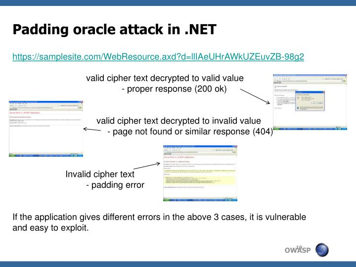 Padding oracle attack in .NET