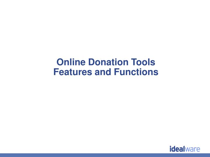 Online Donation Tools