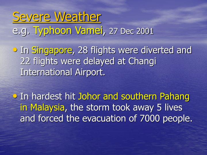 Severe weather e g typhoon vamei 27 dec 2001