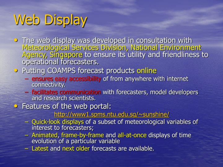 Web Display