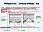 44 ti gamma deeply excited re