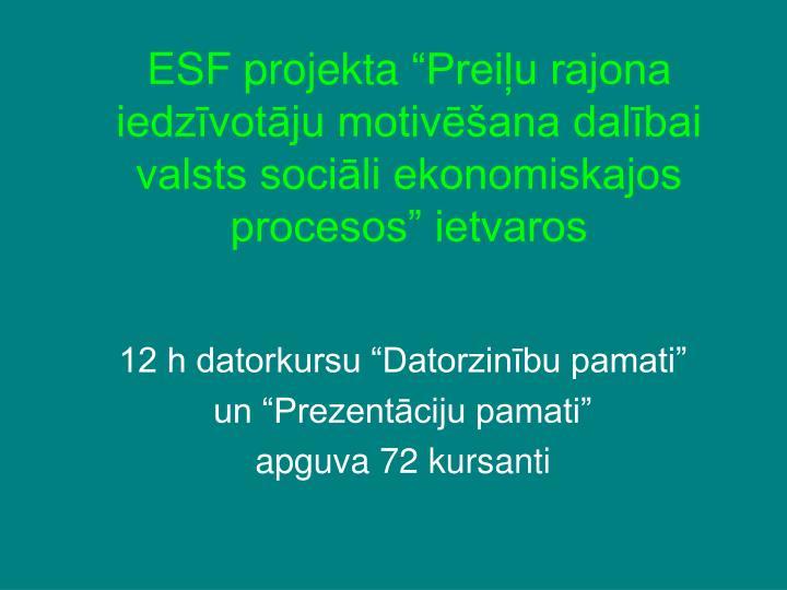 ESF projekta