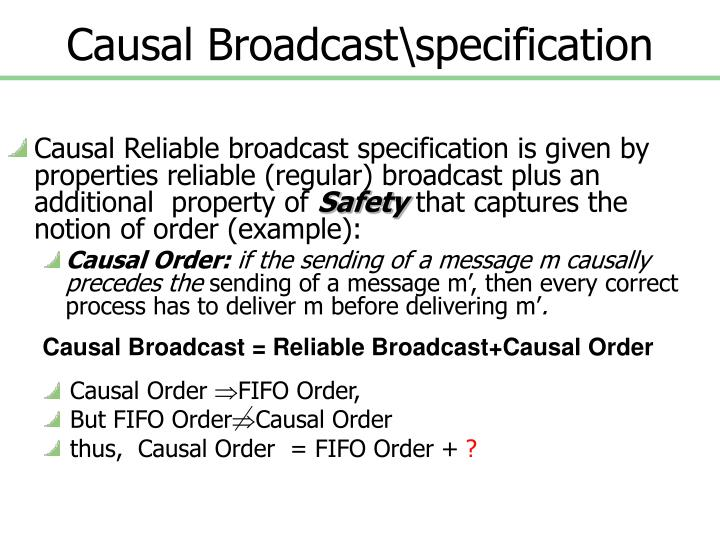 Causal Broadcast\specification