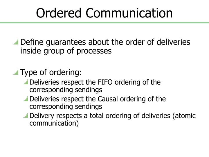 Ordered communication1